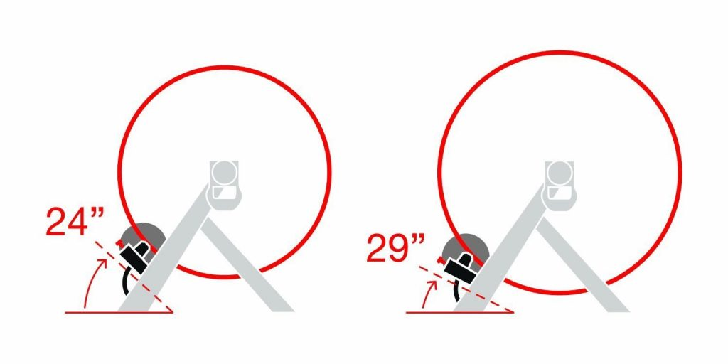 "Rodillo para bicicleta compatible con rueda de 24"" a 29"""